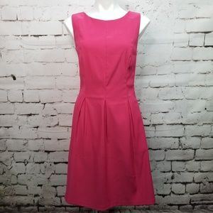 AGB Sleeveless Pleated A-Line Lined Pink Dress